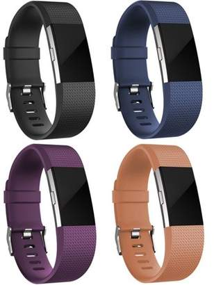Fitbit For Charge 2 Bands(4 Pack), Oak Leaf Replacement Accessory Wristbands for Charge 2 HR,Small Large