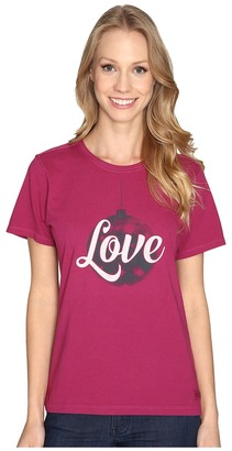 Life is good Love Ornament Crusher Tee $26 thestylecure.com