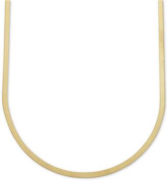 "20"" Italian Gold Herringbone Chain Necklace in 10k Gold"