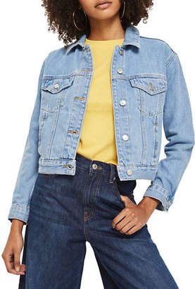 Topshop MOTO Fitted Western Denim Jacket