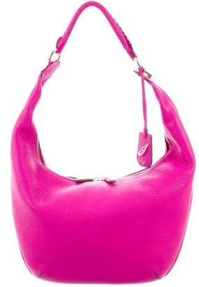 Diane von Furstenberg Leather Grained Hobo Bag