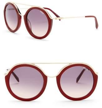 Emilio Pucci 52mm Metal Sunglasses