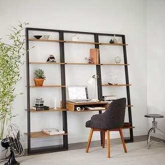 west elm Ladder Shelf Desk + Wide Bookshelf Set (Sand/Stone)