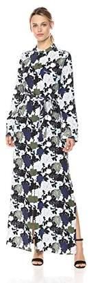 Equipment Women's Floral Noir Printed Britten Maxi Dress