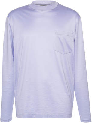 Lanvin High-Collar And Pocket Jersey Shirt