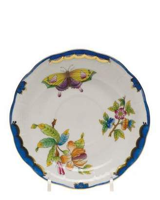 Herend Queen Victoria Blue Saucer