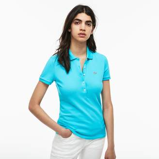 Lacoste Women's Slim Fit Stretch Mini Cotton Pique Polo Shirt