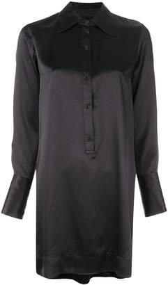 Nili Lotan silk shirt dress