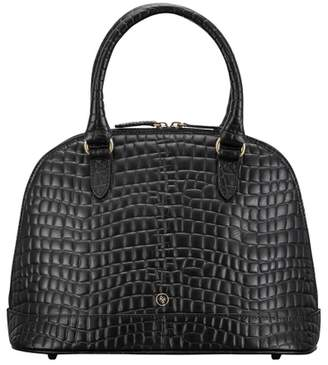 Maxwell Scott Bags Women S Crocodile Print Italian Black Leather Tote Bag