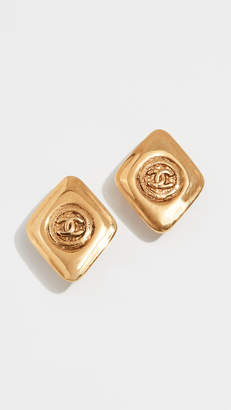 Chanel What Goes Around Comes Around CC Kite Earrings