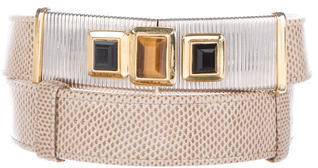 Judith Leiber Embellished Karung Belt $130 thestylecure.com