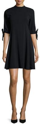 Theory Alvilla Bergen Tie-Sleeve Dress $415 thestylecure.com