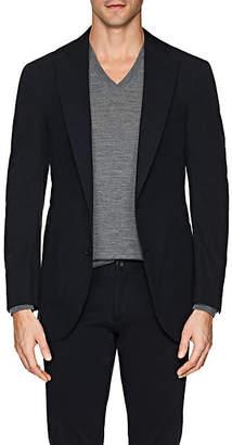 P. Johnson Men's Cotton Two-Button Sportcoat - Navy