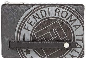 Fendi logo pouch bag