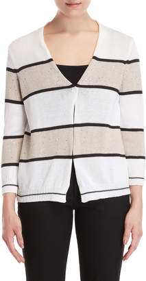 Peserico Striped Sequin Open Cardigan