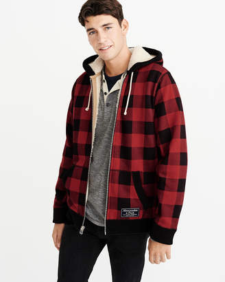 Abercrombie & Fitch Sherpa-Lined Full-Zip Jacket