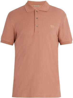 Bottega Veneta Logo-embroidered cotton piqué polo shirt