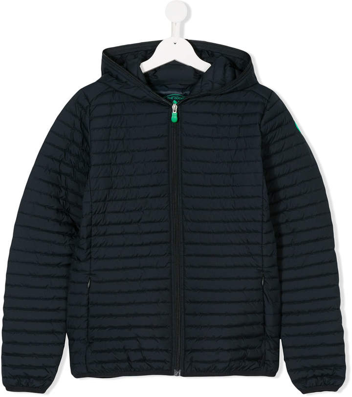 Save The Duck Kids exposed zip padded jacket