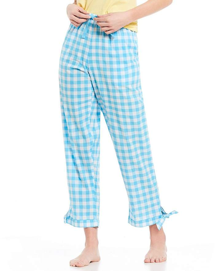 Gingham Side-Tie Sleep Pants