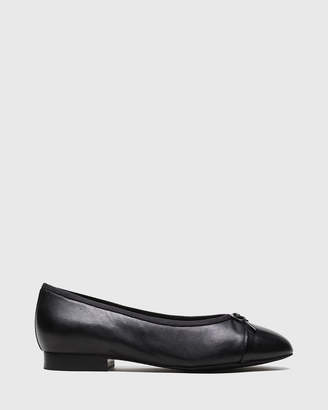 Annie Bow Detail Round Toe Ballet Flats