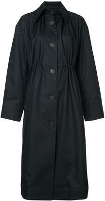 Le Ciel Bleu drawstring waist double breasted coat