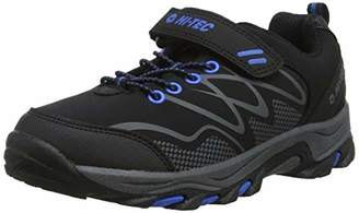 Hi-Tec Boys' Blackout Low Junior High Rise Hiking Boots, (Black/Blue 21), (31 EU)