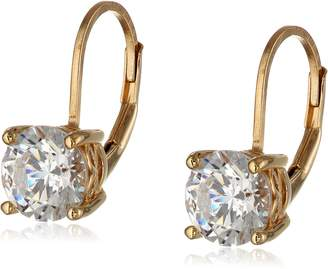 Swarovski Amazon Collection Rose Gold Plated Sterling Silver Lever back Earrings set with Round Zirconia (3 cttw)