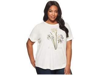 Lauren Ralph Lauren Plus Size Floral Linen-Blend T-Shirt Women's T Shirt