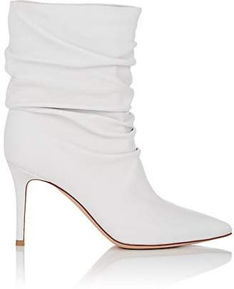 Gianvito Rossi Women's Cecile Leather Ankle Boots - White