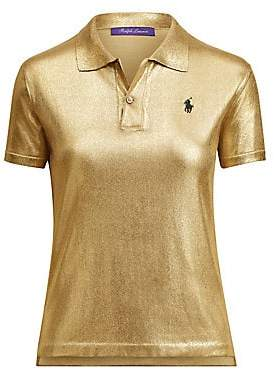 Ralph Lauren Women's Gold Lacquer Pony Polo Tee