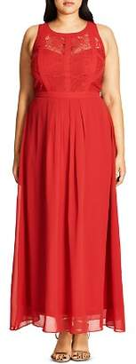 City Chic Plus Paneled Bodice Maxi Dress