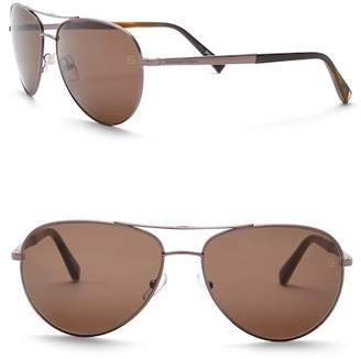 Ermenegildo Zegna Uomo 58mm Aviator Sunglasses
