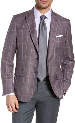 812750ac05c72 John W. Nordstrom R) Traditional Fit Windowpane Wool Sport Coat