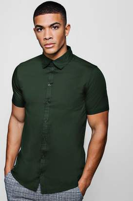 boohoo Muscle Fit Short Sleeve Shirt