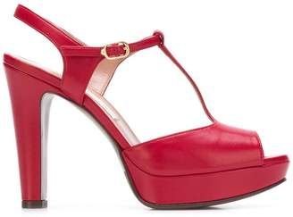 L'Autre Chose T-bar platform pumps