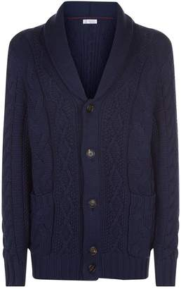 Brunello Cucinelli Chunky Knit Cotton Cardigan
