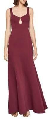 BCBGMAXAZRIA Sleeveless Keyhole Cutout Gown