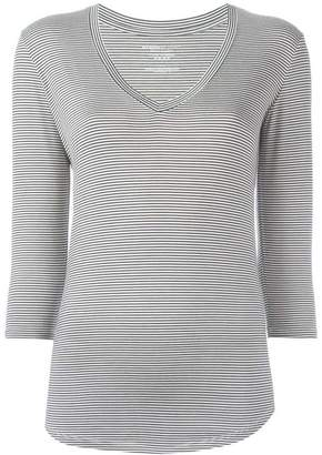 Majestic Filatures striped V-neck T-shirt