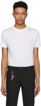 Prada Three-Pack White Triangle Logo T-Shirt