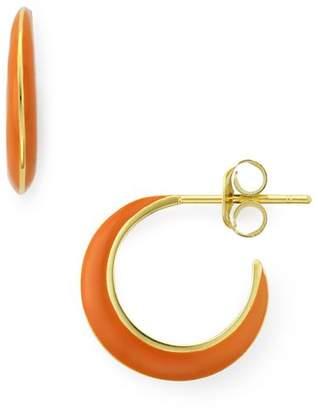 Argentovivo Montauk Enamel Huggie Crescent Earrings