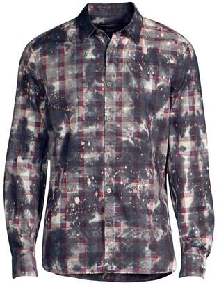 John Varvatos Irregular Plaid Button-Down Shirt