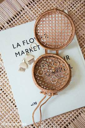 Urban Outfitters Straw Mini Circle Wristlet