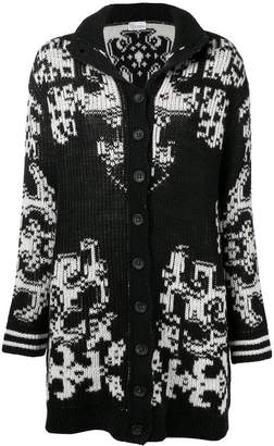 RED Valentino patterned ribbed cardigan