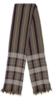 Dries Van Noten Wool Pattered Scarf