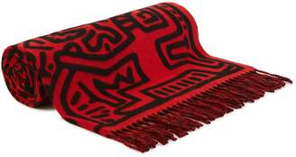 Études Magnolua over Keith Haring scarf