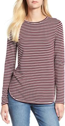 Lou & Grey Stripe Signaturesoft Shirttail Top