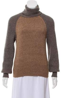 Tory Burch Wool-Blend Knit Turtleneck Sweater