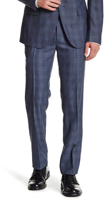 """Paisley & Gray Navy Plaid Flat Front Pant - 30-32"""" Inseam $59.97 thestylecure.com"""
