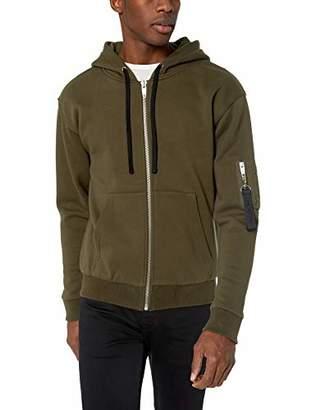 The Kooples Men's Men's Fleece Sweatshirt Militaty Pocket On Sleeve