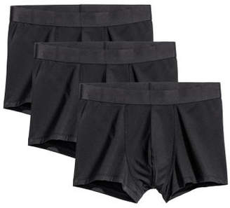 H&M 3-pack Microfiber Boxer Shorts - Black